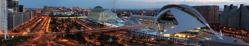 Panorama van Valencia Stock Afbeeldingen
