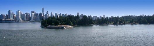Panorama van Vancouver Stock Foto's