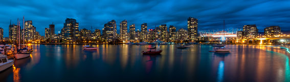 Panorama van Vancouver Stock Fotografie