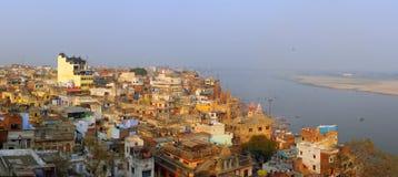 Panorama van Varanasi Stock Afbeeldingen