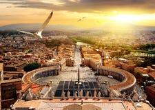 Panorama van Vatikaan stock foto's