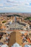 Panorama van Vatikaan en Rome stock fotografie