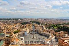 Panorama van Vatikaan en Rome royalty-vrije stock afbeeldingen
