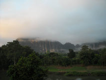 Panorama van verdant heuvels in Zuidoost-Azië Stock Afbeeldingen