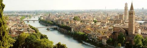 Panorama van Verona Stock Fotografie