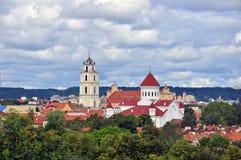 Panorama van Vilnius Royalty-vrije Stock Foto