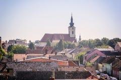 Panorama van Vinkovci Stock Foto