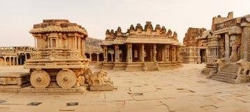 Panorama van Vittala-Tempel Royalty-vrije Stock Foto