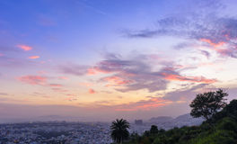 Panorama van Vizag-Stad van Kailasagiri-Heuvel Royalty-vrije Stock Foto's