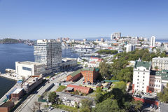 Panorama van Vladivostok. Rusland Royalty-vrije Stock Foto