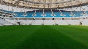 Panorama van voetbalstadion stock video