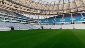 Panorama van voetbalstadion stock footage