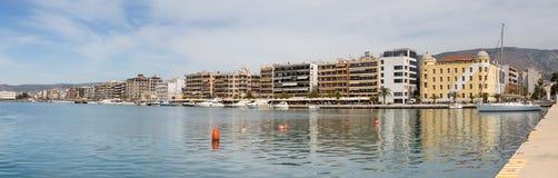 Panorama van Volos-waterkant, Thessaly, Griekenland stock foto's