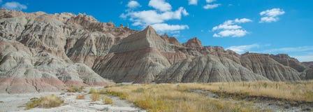 Panorama van vormingen bij het Nationale Park van Badlands royalty-vrije stock afbeelding