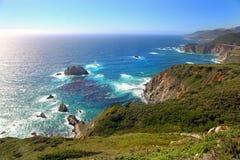 Panorama van Vreedzame kust Royalty-vrije Stock Afbeeldingen