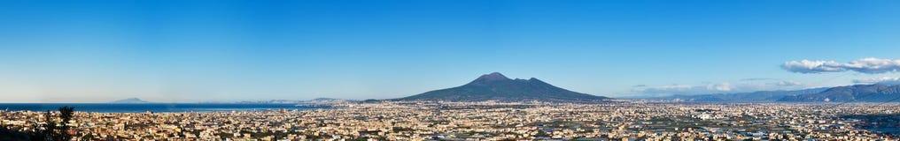 Panorama van vulkaan Vesuvio Stock Afbeelding