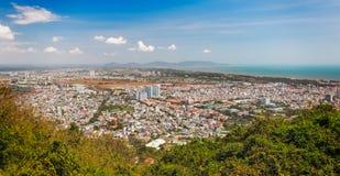 Panorama van Vung-Tau, Zuidelijk Vietnam stock foto's