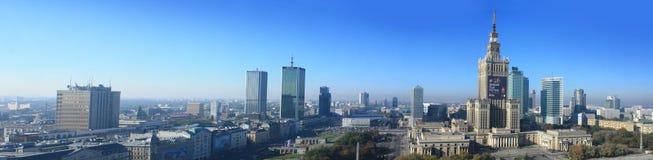 Panorama van Warshau Stock Fotografie