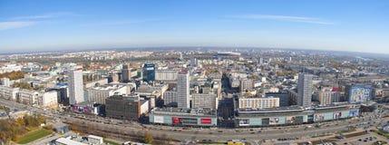 Panorama van Warshau Royalty-vrije Stock Fotografie