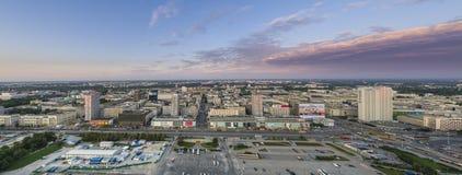 Panorama van Warshau, hoofdstad van Polen Stock Afbeeldingen