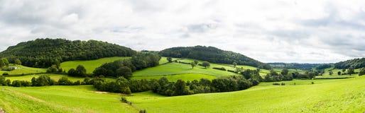 Panorama van Wels platteland Royalty-vrije Stock Afbeeldingen