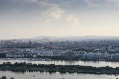 Panorama van Wenen Royalty-vrije Stock Foto's