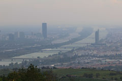 Panorama van Wenen, Austria Stock Fotografie