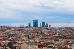 Panorama van Wenen, Oostenrijk. Stock Afbeelding