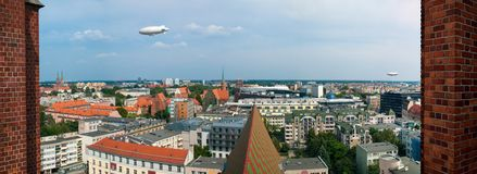 Panorama van Wroclaw stock afbeelding