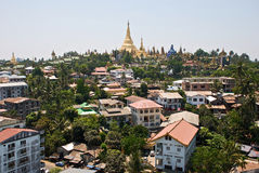 Panorama van Yangon Royalty-vrije Stock Foto