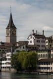 Panorama van Zürich Royalty-vrije Stock Afbeeldingen