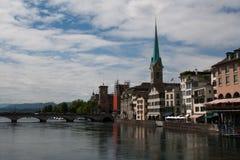 Panorama van Zürich Stock Fotografie