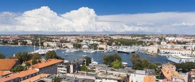 Panorama van Zadar royalty-vrije stock afbeeldingen