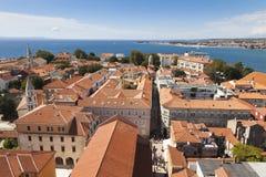 Panorama van Zadar stock afbeelding