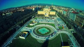 Panorama van Zagreb stock footage