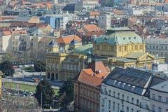 Panorama van Zagreb royalty-vrije stock afbeelding