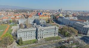 Panorama van Zagreb royalty-vrije stock foto's