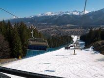 Panorama van Zakopane-stad royalty-vrije stock foto
