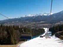 Panorama van Zakopane-stad royalty-vrije stock afbeeldingen
