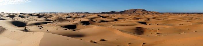 Panorama van zandduinen Royalty-vrije Stock Afbeelding