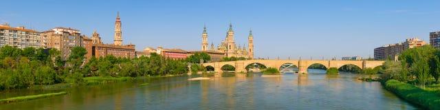 Panorama van Zaragoza Stock Afbeelding
