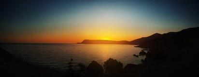 Panorama van zeegebied Stock Foto's