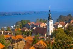 Panorama van Zemun, Belgrado royalty-vrije stock afbeeldingen