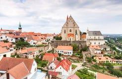 Panorama van Znojmo, Tsjechische Republiek. Royalty-vrije Stock Foto's