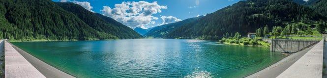 Panorama van Zoggler-Reservoir in ultimo D ` Royalty-vrije Stock Afbeelding