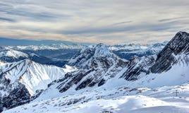 Panorama van Zugspitze. Royalty-vrije Stock Foto
