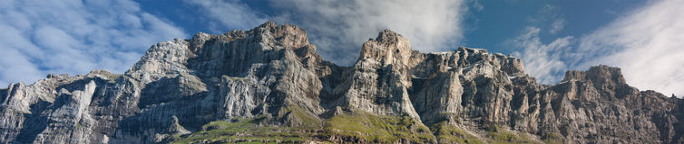 Panorama van Zwitserse alpen Royalty-vrije Stock Afbeeldingen