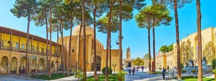 Panorama Vank ` s Katedralny ogród, Isfahan, Iran Zdjęcia Stock