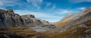 Panorama variopinto di Daubensee fotografia stock