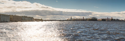 Panorama of Vasilyevsky island. Saint Petersburg Stock Photography